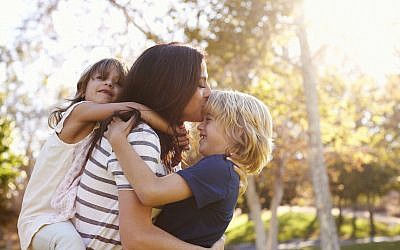 Illustrative. Mother with kids in the park. (iStock)