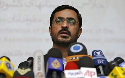 Tehran former prosecutor Saeed Mortazavi speaks to the media at a news conference in Tehran, Iran, on April 19, 2009. (AP Photo/Vahid Salemi)