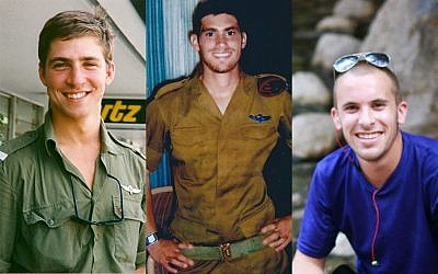 Alex Singer, Michael Levin, Max Steinberg, three fallen IDF lone soldiers, who were commemorated at a ceremony in Jerusalem on April 17, 2018. (courtesy)