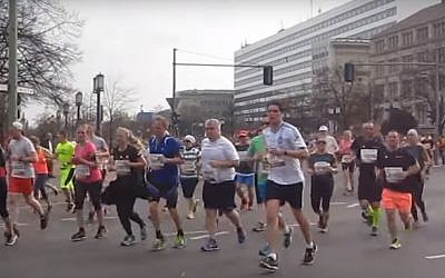 The Berlin half-marathon, 2017. (YouTube screenshot)