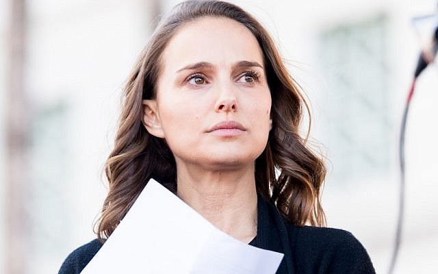 Natalie Portman at the Women's March in Los Angeles, Jan. 20, 2018. (Emma McIntyre/Getty Images)