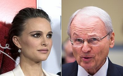 Morton Klein, head of the Zionist Organization of America (R) called out Natalie Portman for her recent comments on Israel. (Getty Images via JTA)