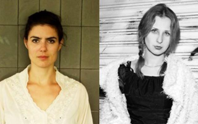 Israeli Shifra Kornfeld (left) and Olga Borisova of Pussy Riot, the Russian feminist punk rock band that will play Tel Aviv's Barby after appearing at the Mishkenot Sha'ananim International Writers Festival on May 8 (Courtesy Mishkenot Sha'ananim)
