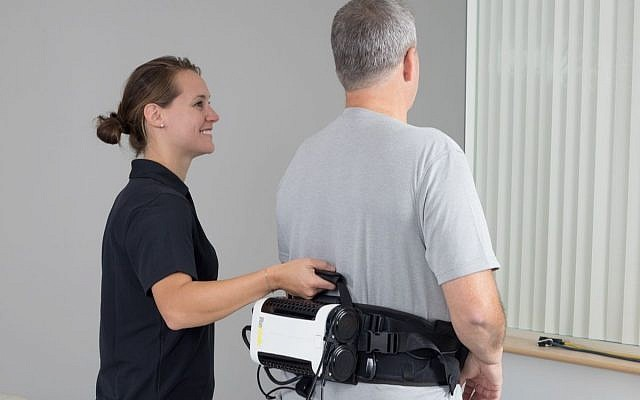 ReWalk's new product, the ReStore soft suit to help rehabilitate stroke victims (Courtesy)