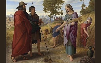 Ruth on the fields of Boaz by Julius Schnorr von Carolsfeld (cropped) (Cc via Wikipedia)