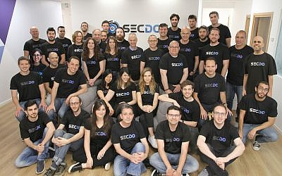 The Secdo team in 2018 (Courtesy)