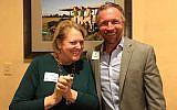 Virginia Thomas, left, with Jeff Myers. (Facebook via JTA)