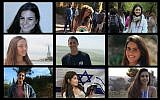 A composite photo of victims of a flash flood in southern Israel on April 27, 2018. Ilan Bar Shalom (TL), Shani Shamir (TC), Agam Levy (TR), Romi Cohen (ML), Tzur Alfi (MC), Ella Or (MR), Gali Balali (BL), Maayan Barhum (BC), Yael Sadan (BR) (Facebook/courtesy)