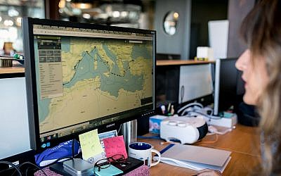 Israeli startup Windward has created software that analyzes global shipping movements and builds machine learning and predictive models for governments and companies to track vessels at sea and for marine insurance companies (Adi Lamm Photography)