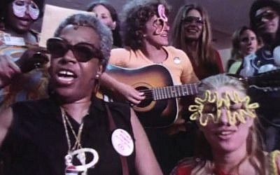 Florence Kennedy, left, and Sandra Hochman, front right, in a screenshot from 'Year of the Woman.' (Courtesy)