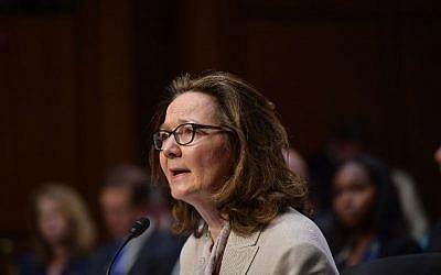 (FILES) In this file photo taken on May 9, 2018 Gina Haspel testifies before the Senate Intelligence Committee on her nomination to be the next CIA director in the Hart Senate Office Building on Capitol Hill in Washington, DC on May 9, 2018. (AFP PHOTO / MANDEL NGAN)