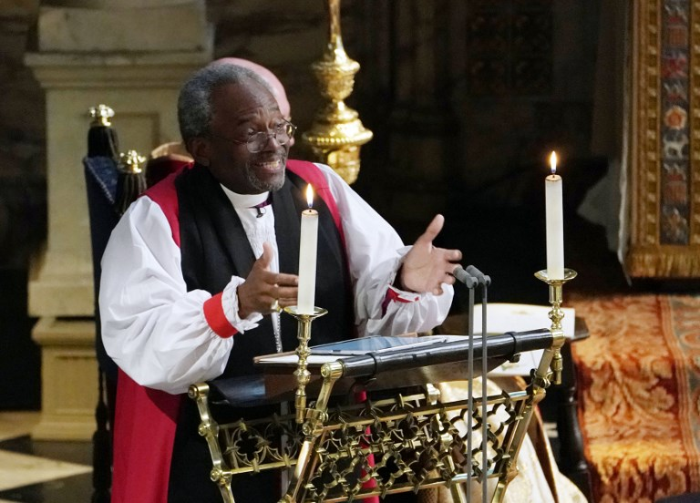 Bi Michael Bruce Curry Gives A Reading During The Wedding Ceremony Of Britain S Prince Harry