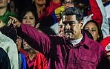 Venezuelan President Nicolas Maduro gestures after the National Electoral Council (CNE) announced the results of the voting on election day in Venezuela, on May 20, 2018. (AFP PHOTO / Juan BARRETO)
