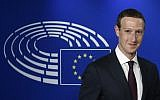 Facebook CEO Mark Zuckerberg arrives at the European Parliament, prior to his interview on the data privacy scandal on May 22, 2018 at the European Union headquarters in Brussels.  (AFP PHOTO / JOHN THYS)
