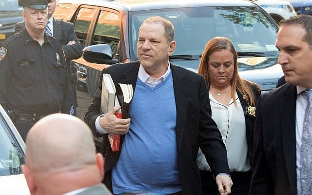 Hollywood film producer Harvey Weinstein surrenders to authorities May 25, 2018, in New York. (AFP PHOTO / Bryan R. Smith)