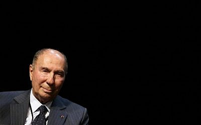 French UMP senator and businessman Serge Dassault attends a campaign meeting in Draveil, near Paris, on June 13, 2012. (AFP Photo/Kenzo Tribouillard/File)