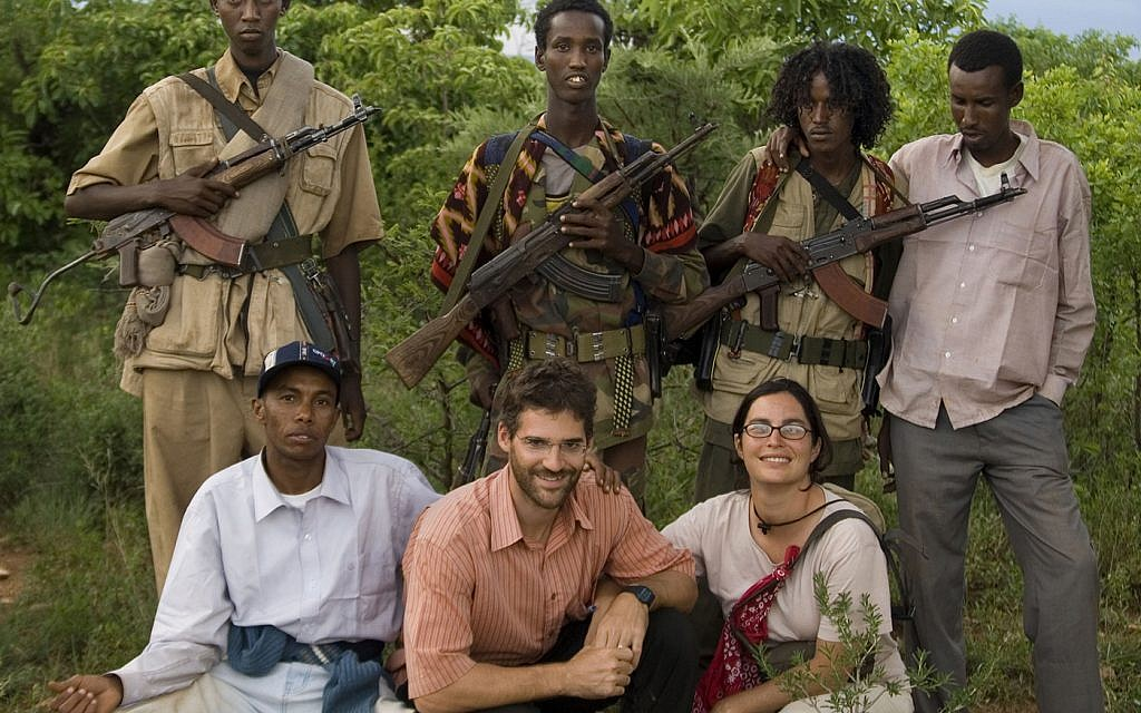 New York Times reporter Jeffrey Gettleman and wife Courtenay In the Ogaden Desert, Ethiopia, 2007. (courtesy)