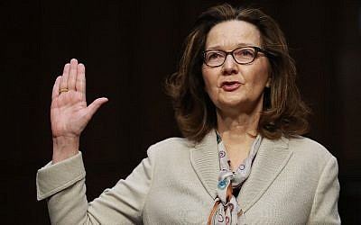 Central Intelligence Agency Deputy Director Gina Haspel is sworn in before the Senate Intelligence Committee during her confirmation hearing to become the next CIA director, in the Hart Senate Office Building in Washington, DC, on May 9, 2018. (Chip Somodevilla/Getty Images/AFP)