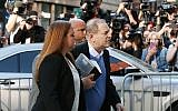 Harvey Weinstein turns himself in to the New York Police Department's First Precinct after be served with criminal charges by the Manhattan District Attorney's office on May 25, 2018 in New York City. (Spencer Platt/Getty Images/AFP)