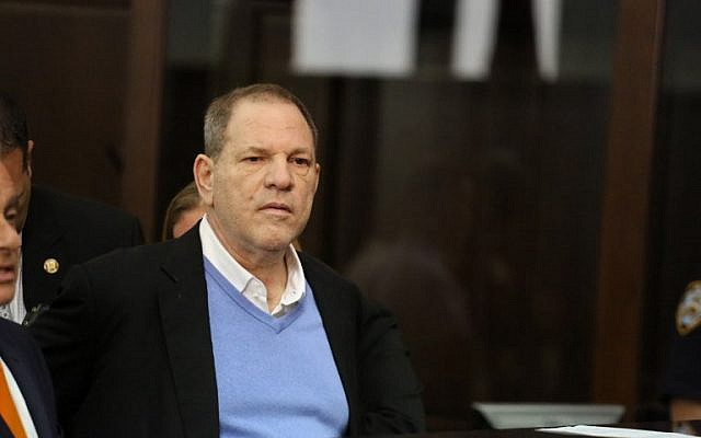 Harvey Weinstein appears at his arraignment in Manhattan Criminal Court on Friday, May 25, 2018.  (Jefferson Siegel-Pool via Getty Images/AFP)