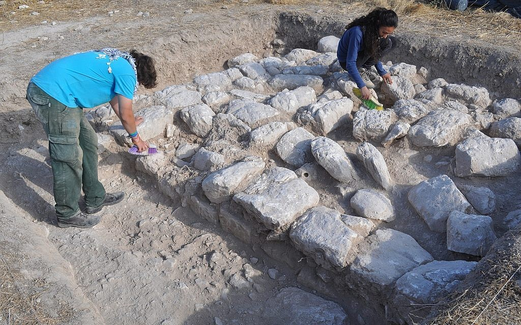 Lower city of Tel 'Eton excavation, which was performed based on indications found in sifting the molehill dirt. (Avraham Faust/ Tel 'Eton Archaeological Expedition)