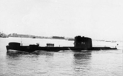 The Israeli Navy's Dakar submarine, which sank in January 1968. (Defense Ministry's IDF Archives)