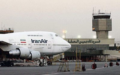 A Boeing 747 of the state carrier IranAir is seen at Mehrabad International Airport in Tehran, June 2003. (AP Photo/Hasan Sarbakhshian, File)
