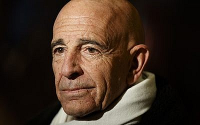Tom Barrack speaks with reporters in the lobby of Trump Tower in New York, January 10, 2017 (AP Photo/Evan Vucci)
