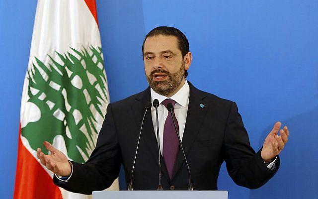 Lebanese Prime Minister Saad Hariri speaks during a press conference in Beirut, Lebanon, May 7, 2018. (AP Photo/Bilal Hussein)
