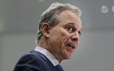 In this Wednesday, Sept. 6, 2017, file photo, New York Attorney General Eric Schneiderman speaks at a news conference in New York. (AP Photo/Seth Wenig, File)
