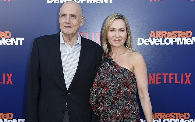"Jeffrey Tambor, left, and Kasia Ostlun attend the LA Premiere of ""Arrested Development"" Season Five at Raleigh Studios Hollywood on Thursday, May 17, 2018, in Los Angeles. (Photo by Richard Shotwell/Invision/AP)"