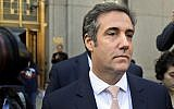In this file photo from April 26, 2018, Michael Cohen leaves federal court in New York City. (AP Photo/Seth Wenig, File)