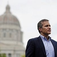 In this May 17, 2018 file photo, Missouri Gov. Eric Greitens looks on before speaking at an event near the capitol in Jefferson City, Mo. (AP Photo/Jeff Roberson)