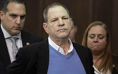 In this May 25, 2018 photo, Harvey Weinstein listens during a court proceeding in New York. (Steven Hirsch/New York Post via AP, Pool)