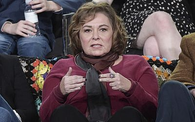 "Roseanne Barr participates in the ""Roseanne"" panel during the Disney/ABC Television Critics Association Winter Press Tour on Monday, Jan. 8, 2018, in Pasadena, Calif. (Richard Shotwell/Invision/AP)"