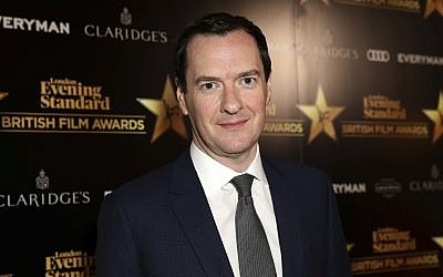 Newspaper Editor George Osborne poses for photographers on arrival at The Evening Standard Film Awards in central London, on February 8, 2018. (Grant Pollard/Invision/AP)