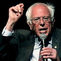 Sen. Bernie Sanders, I-Vt., speaks on a question during a town hall meeting on April 4, 2018 with Jackson Mayor Chokwe Antar Lumumba, examining economic justice 50 years after the assassination of Dr. Martin Luther King Jr., in Jackson, Miss. (AP Photo/Rogelio V. Solis)