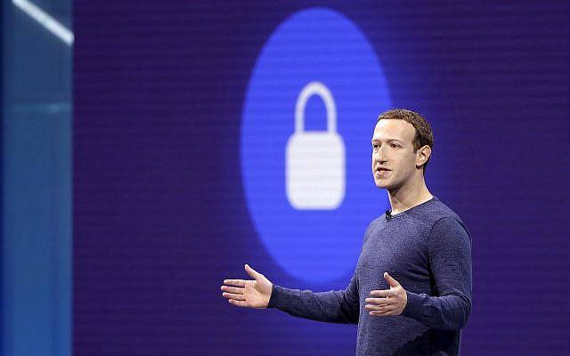 Facebook CEO Mark Zuckerberg makes the keynote speech at F8, theFacebook's developer conference, May 1, 2018, in San Jose, Calif. (AP Photo/Marcio Jose Sanchez)