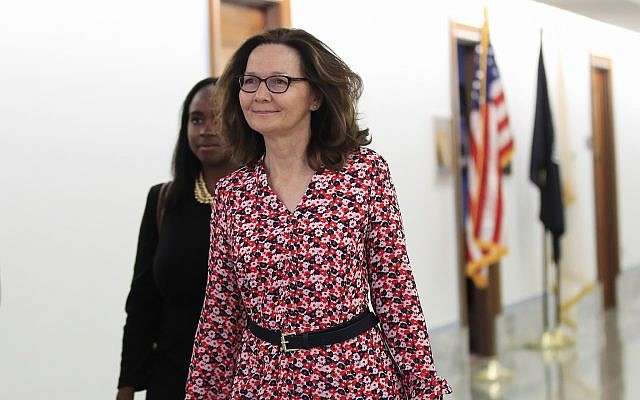 CIA Director nominee Gina Haspel walks to meetings on Capitol Hill in Washington, Monday, May 7, 2018. (AP Photo/Manuel Balce Ceneta)