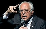 US Sen. Bernie Sanders, Independent of Vermont, responds to a question during a town hall meeting in Jackson, Mississippi, April 4, 2018. (AP Photo/Rogelio V. Solis)