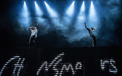 The Chainsmokers at their 2017 performance in Israel (Courtesy Lior Catar)