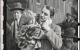 Child cries as her Jewish father parts from her in the restored 'City Without Jews' (Courtesy of Film Archiv Austria)