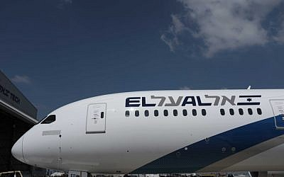 An El Al Boeing 787 Dreamliner at Ben Gurion Airport, near Tel Aviv on August 23, 2017.(Tomer Neuberg/Flash90)