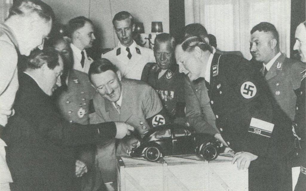The Volkswagen Beetle has long been attributed to Adolf Hitler and Dr. Ferdinand Porsche. (Courtesy/ Rex Bennett, Lane Motor Museum)