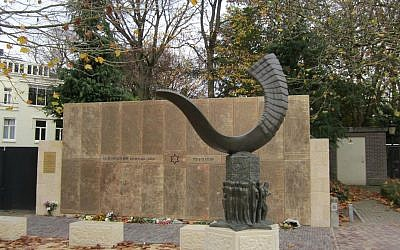 Monument for 1239 Jewish victims from Utrecht. (CC BY-SA Kattiel, Wikimedia Commons)