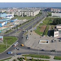 An aerial view of Novoyuzhny Microdistrict in Cheboksary, Russia on June 21, 2010. (CC BY-SA Wikimedia commons)