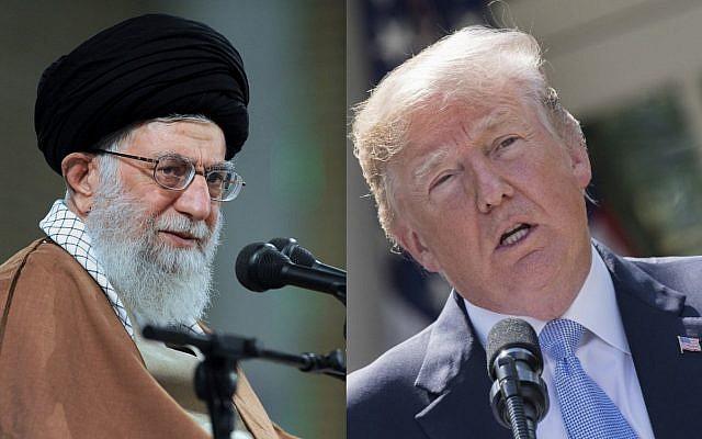 Iranian Supreme Leader Ayatollah Ali Khamenei in Tehran (L), US President Donald Trump at the White House (Office of the Iranian Supreme Leader via AP, AFP PHOTO / JIM WATSON)