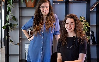Noga Mann and Yasmin Dunsky are co-founders of QueenB, entrepreneurs and students of computer science. (Courtesy, WeWork)