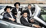 The four stars of 'Shababnikim,' HOT's new series about young yeshiva guys, which will be screened in English as a Times of Israel Presents event on May 30 (Courtesy HOT)