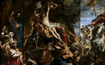 'The Elevation of the Cross,' by Peter Paul Rubens, 1610. (public domain via wikipedia)